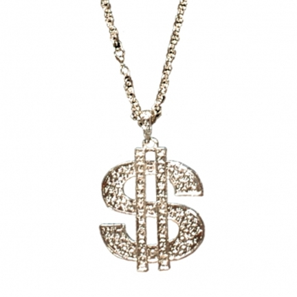 Novelty Dollar Sign Necklace / Mac Daddy - Rapper