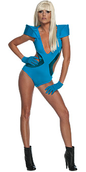 Lady Gaga Poker Face Video Swimsuit Adult Costume