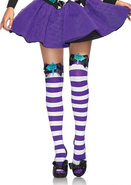 4b5b5735f71 Mad Hatter Bow Top Thigh Highs