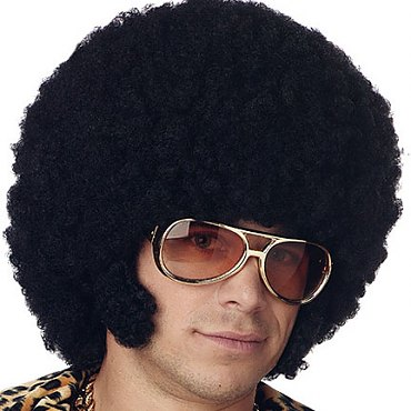 Disco Afro Wig with Chops
