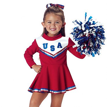 Toddler Patriotic Cheerleader Costume