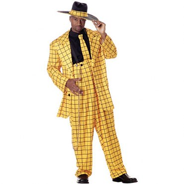 Zoot Suit Costume - Gold & Black