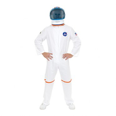 Adult Astronaut Space Suit Costume -White