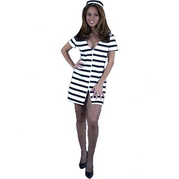 Prisoner Bad Girl Costume - Department of Corrections