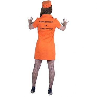 Prisoner Bad Girl Costume - DOC Orange