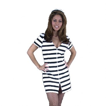 Prisoner Bad Girl Costume - State Prison