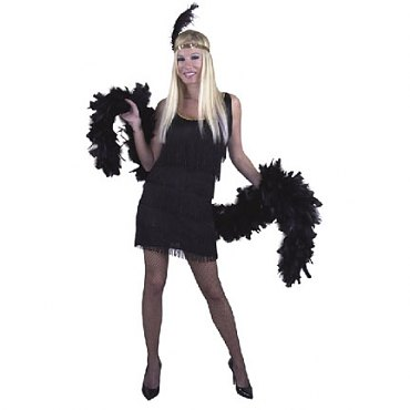 Black Fashion Flapper Costume