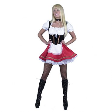 Deluxe Red Beer Garden Girl Costume