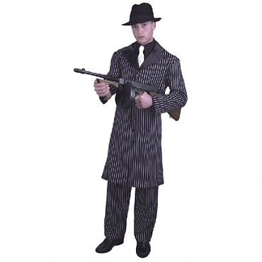 Long Coat Gangster Suit Costume