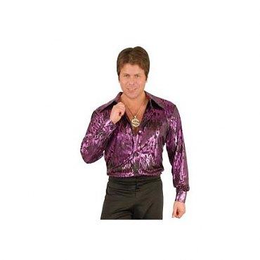 Purple Flame Hologram Disco Shirt