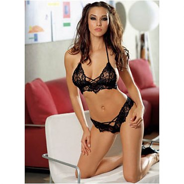 Black Lace Courtesan Set