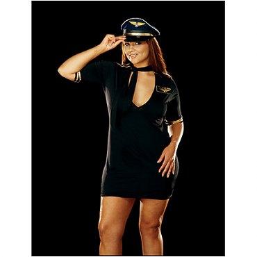 Plus Size Mile High Captain Costume