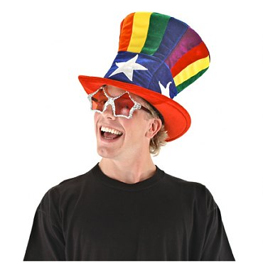 Rainbow Uncle Sam Hat