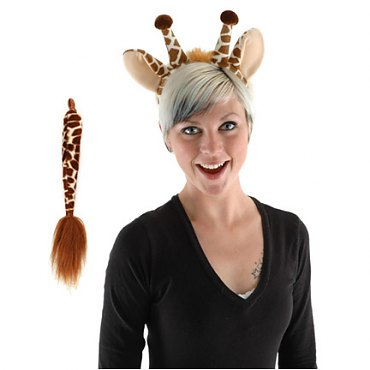 Giraffe Ear and Tail Set