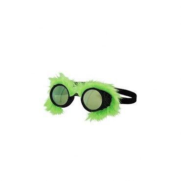 Neon Fur Goggles Green