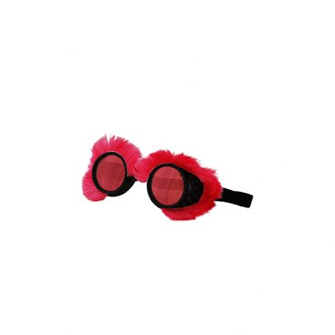 Neon Fur Goggles Pink