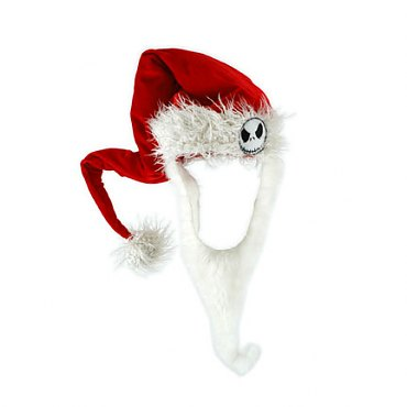 Jack Skellington Santa Hat with Beard