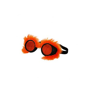 Neon Fur Goggles Orange