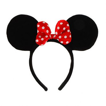Disney Minnie Mouse Ears with Red Bow