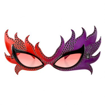 Red Feather Mask Glasses
