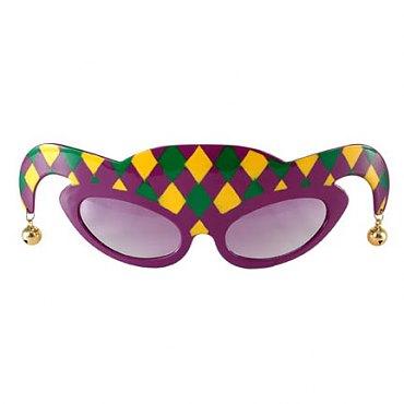 Mardi Gras Jester Glasses