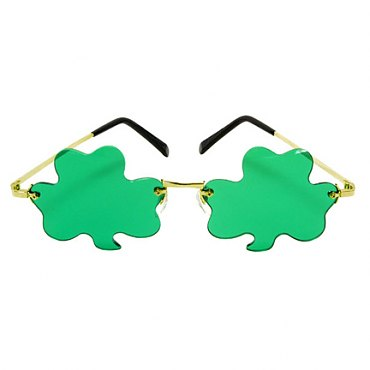 Metal Frame Shamrock Sunglasses