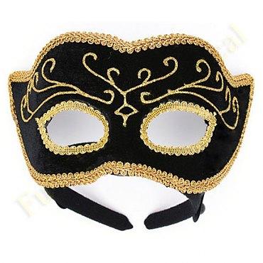 Black / Gold Elegant Venetian Mardi Gras Mask