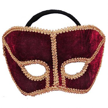 Karneval Style Maroon Mask