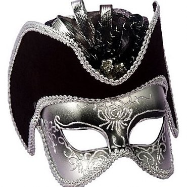 Pirate Venetian Half Mask