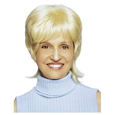 70&#39s Housewife Blonde Wig