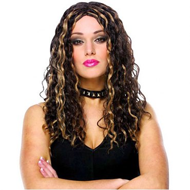 Female Crimped Rocker Wig