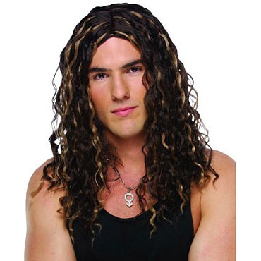 Male Crimped Rocker Wig