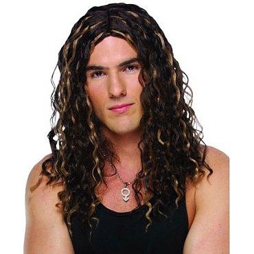 Male Crimped Rocker Wig