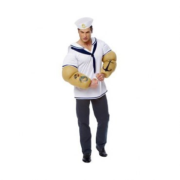 Sailor Shirt with Popeye Arms