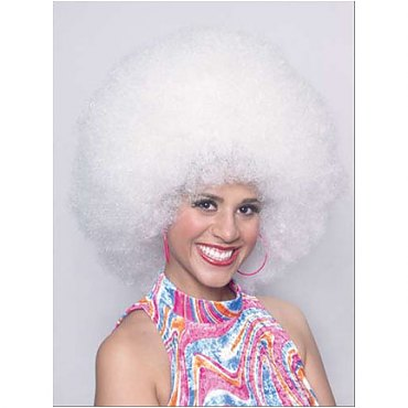 Platinum White Disco Afro Wig