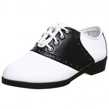 Childrens Black and White Saddle Shoes