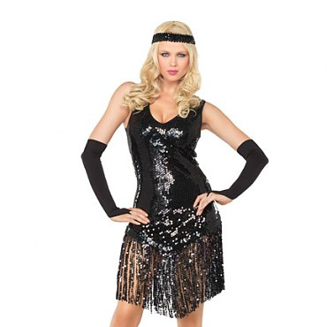 Gatsby Girl Flapper Costume - Black
