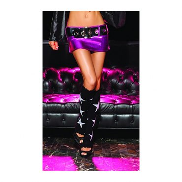 Lurex Star Leg Warmers