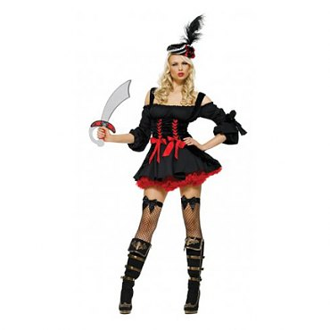 Black Pirate Wench Costume