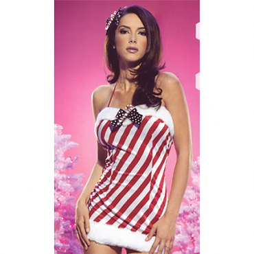 Candy Cane Velvet Dress *