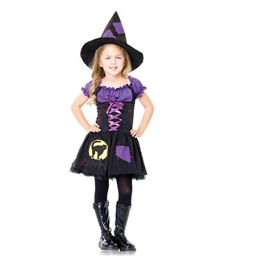 Childs Black Cat Witch Costume