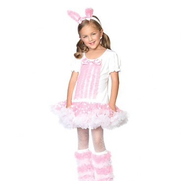 Childs Fluffy Bunny Costume