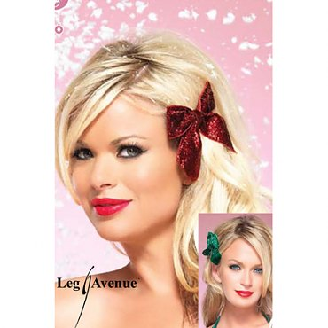 Glitter Christmas Hair Bows