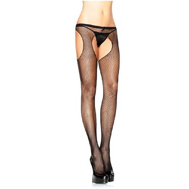 Nylon Fishnet Suspender Pantyhose