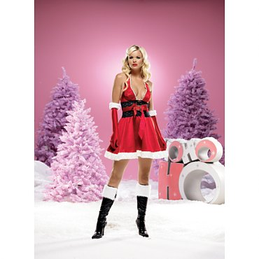 Satin Halter Christmas Dress