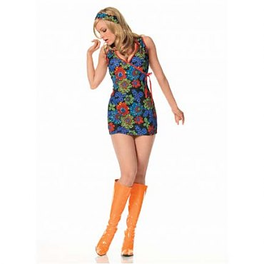 Kaleidoscope Print Go-Go Dress Costume
