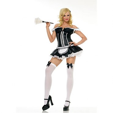 Leg Avenue Naughty French Maid Costume