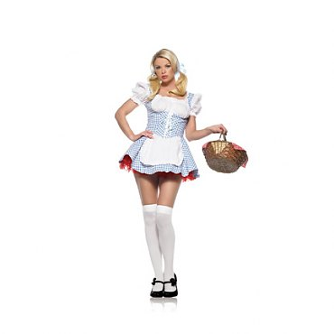 Blue Mary Peasant Dress Costume