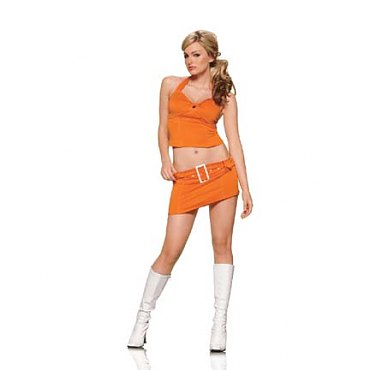 Orange Soda Pop Girl Costume