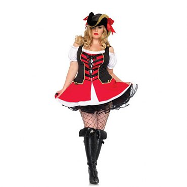 Plus Size Aye Aye Admiral Pirate Costume